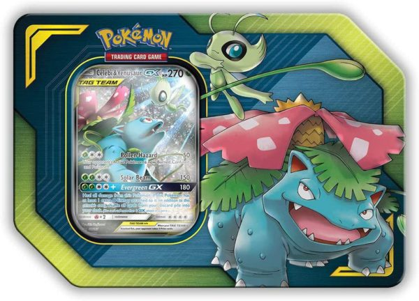 Pokemon Celebi & Venusaur Tag Team Tin