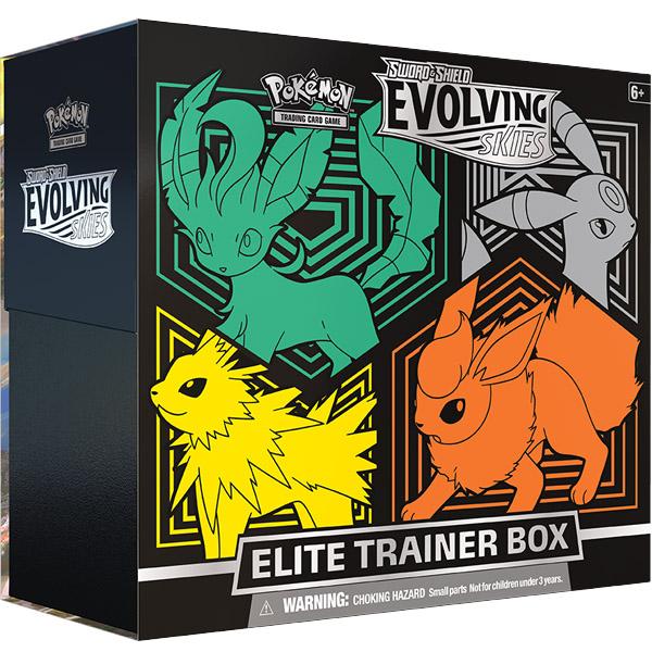 Pokemon Evolving Skies Elite Trainer Box (Leafeon-Umbreon-Jolteon-Flareon)