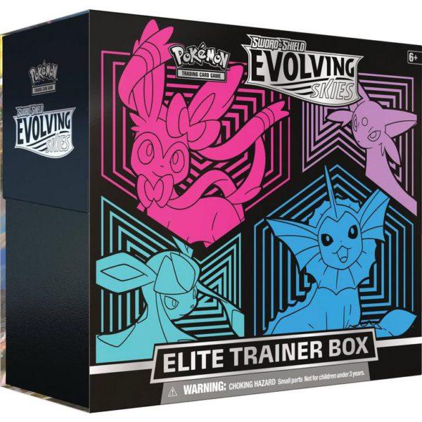 Pokemon Evolving Skies Elite Trainer Box (Sylveon-Espeon-Glaceon-Vaporeon)