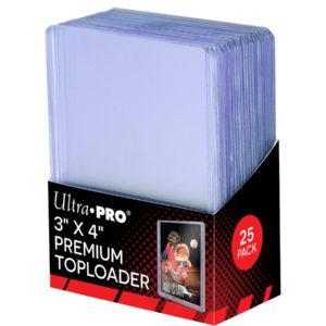 Ultra Pro 3 X 4 Ultra Clear Premium Toploader