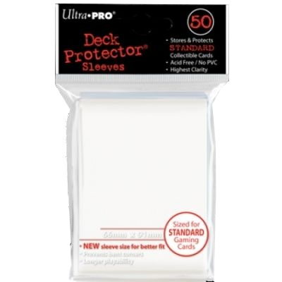 Ultra Pro White Deck Protector Sleeves (50τμχ)